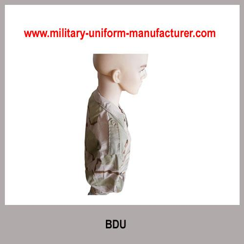 Military Desert Camouflage Battle Dress Uniform for Army Wear