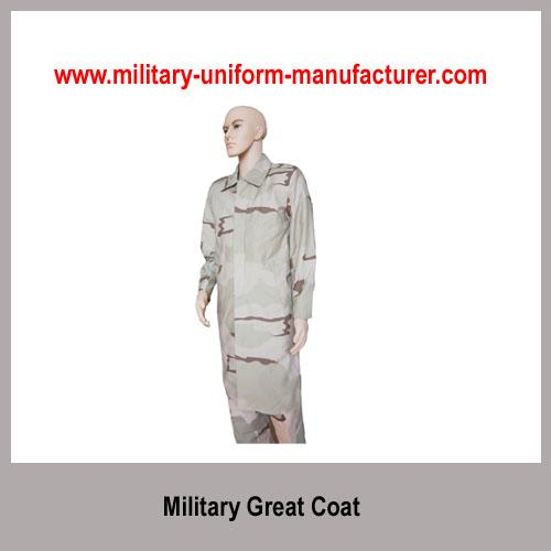 Military Desert Camouflage Waterproof Great Coat with liner for Army