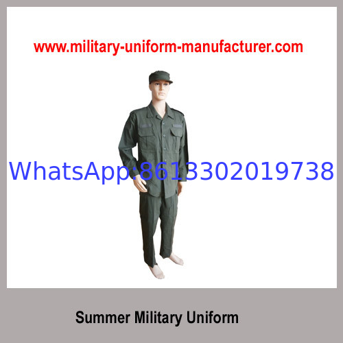 Military Olive Green Summer Battle Dress Uniform for Army Wear
