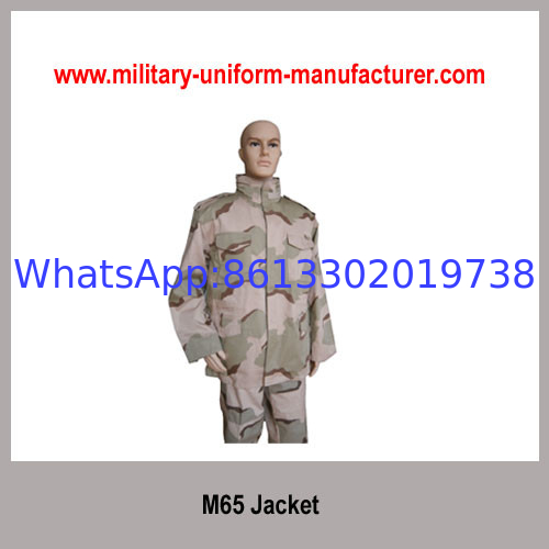 Military Desert Camouflage TC M65 Jacket With Concealed Hood For Army