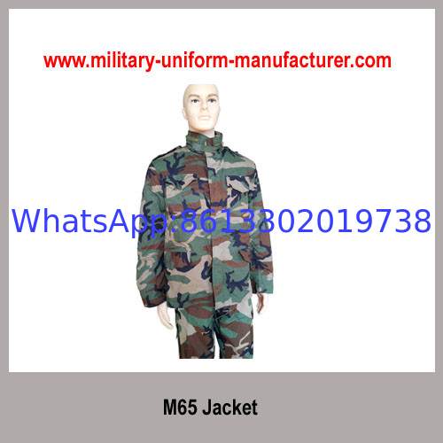 Military Waterproof Woodland Camouflage M65 Combat Jacket For Army