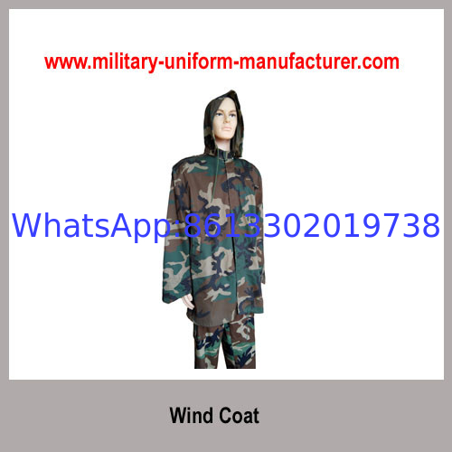 Military Water-proof Woodland Camouflage Wind Coat With Hood