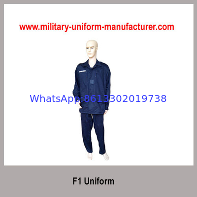 China Army Navy Blue Color Satin French Style F1 Military Uniform for Police Wear distributor
