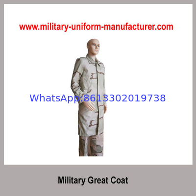 China Military Desert Camouflage Waterproof Great Coat with liner for Army distributor
