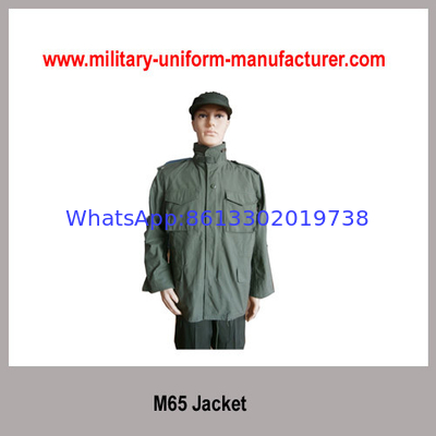 China Army Olive Green NC Waterproof M65 Parka Jacket with liner for Police Wear distributor