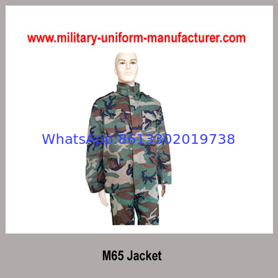 China Military Waterproof Woodland Camouflage M65 Combat Jacket For Army distributor
